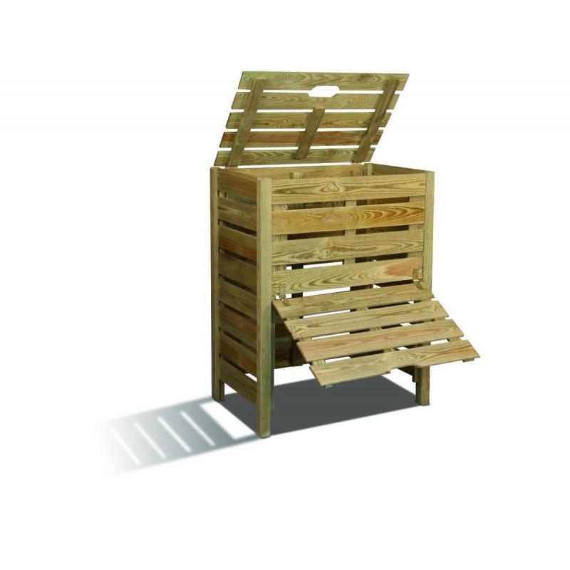 composteur de jardin en bois 400 litres composteur de. Black Bedroom Furniture Sets. Home Design Ideas