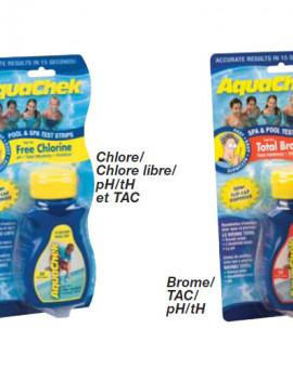 Testeur Aquachek jaune 50 bandelettes (Chlore