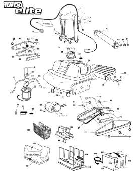 Rondelle entre roue et flasque pour TURBO ELITE, sur image Num 51