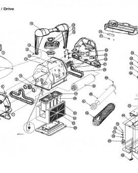 Roulement de chenille intérieur pour AQUAVAC, sur image Num 9