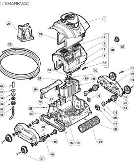Rondelle de câble inférieur pour E-VAC / SHARKVAC, sur image Num 43