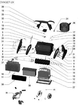 Axe tendeur chenille pour VOYAGER 2X, sur image Num 22
