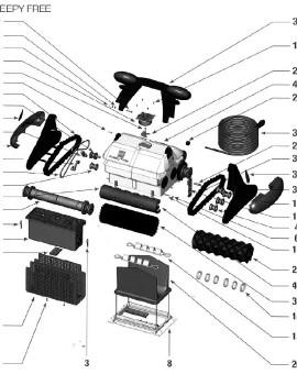 Bloc moteur pour SWEEPY FREE, sur image Num 43
