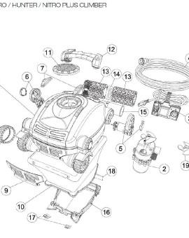 Tube de roues motrices pour NITRO / HUNTER / NITRO PLUS CLIMBER, sur image Num 15