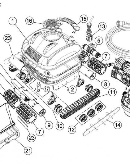 Tube de roues motrices pour PROTRAC QC, sur image Num 8