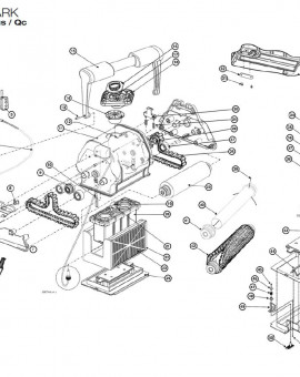 Vis M4X12 Hd T-18-8 pour TIGER SHARK, sur image Num 4