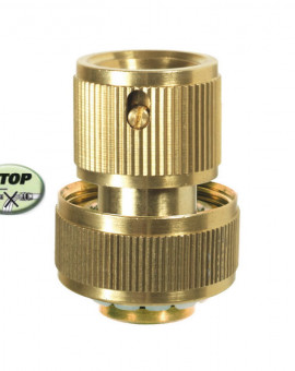Raccord rapide stop laiton 15mm