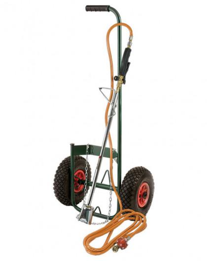 Kit désherbeur thermique avec chariot avec roues gonflables
