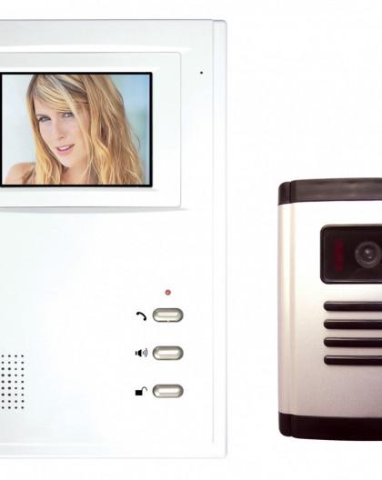 Interphone Vidéo Noir Et Blanc Équipé D'Un Écran N