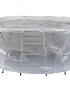 Housse pour mobilier de jardin : table ronde et chaises ...