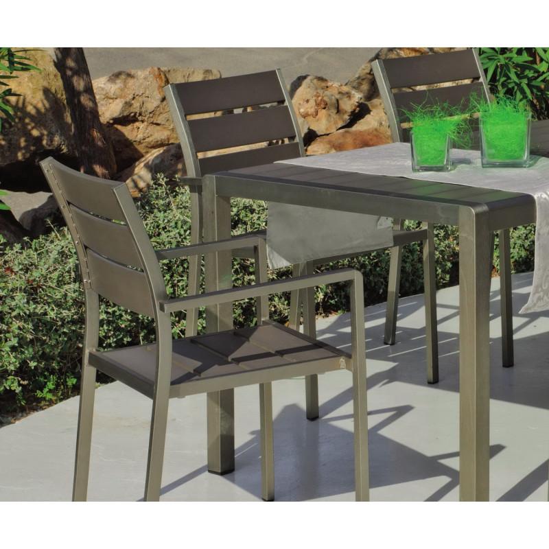 Salon de Jardin PARIS 6 places | aluminium | HEVEA mobilier de jardin