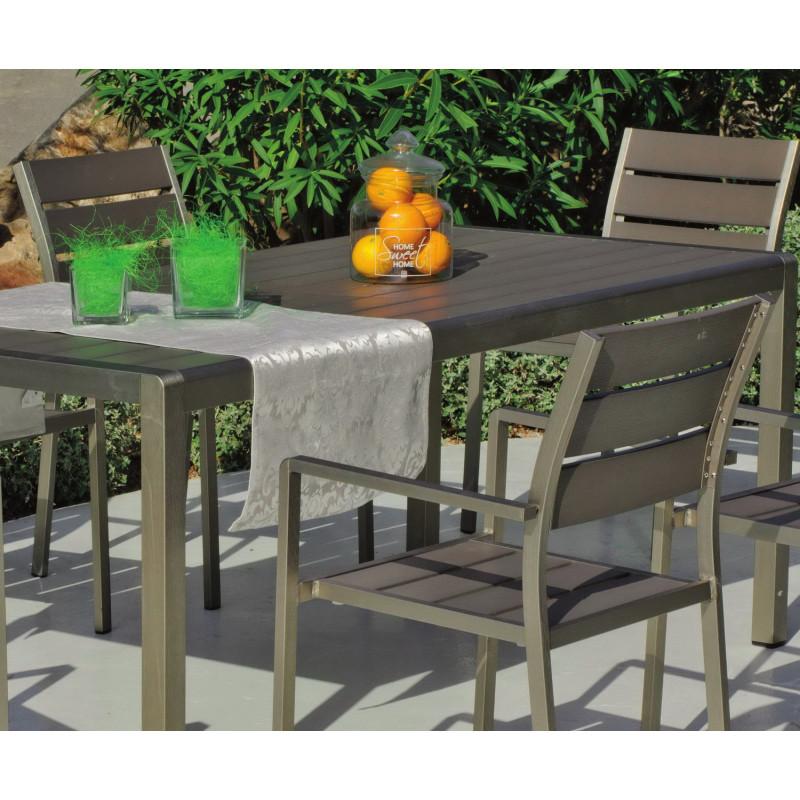 salon de jardin paris 6 places aluminium hevea. Black Bedroom Furniture Sets. Home Design Ideas