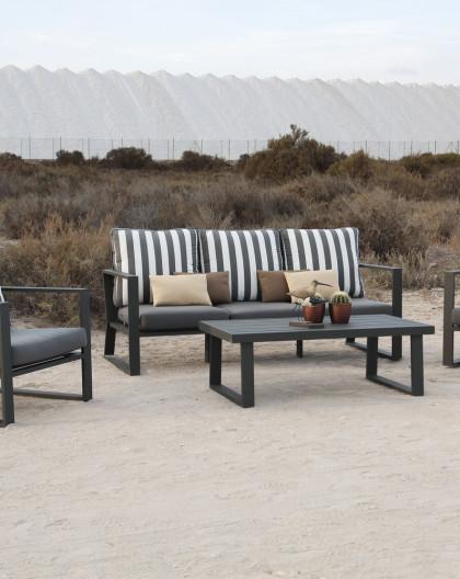 achat/vente Salon de Jardin aluminium BOLIVA 5 places | aluminium | HEVEA  mobilier de jardin