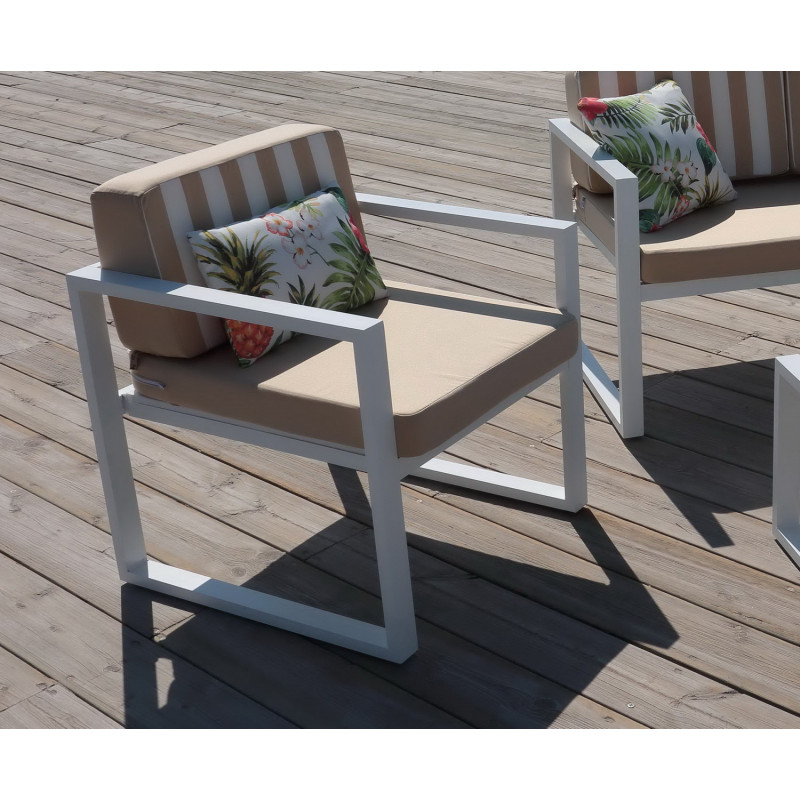 achat vente Salon de Jardin aluminium PARMA 4 places | HEVEA ...