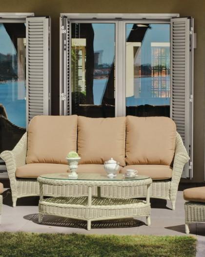 Salon de Jardin MARQUISE 5 places | Résine tressée | HEVEA mobilier ...