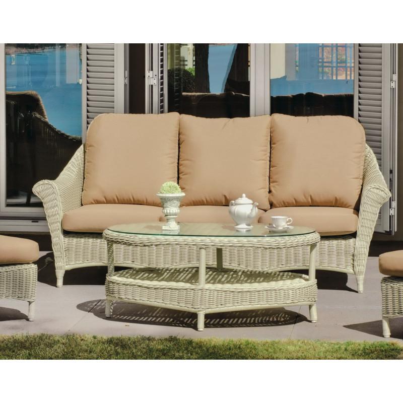 Salon de jardin marquise 5 places r sine tress e hevea mobilier de jardin - Salon de jardin haut de gamme resine tressee ...