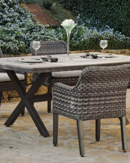 Salon de Jardin GUADELOUPA 6 places | Résine tressée | HEVEA mobilier de  jardin
