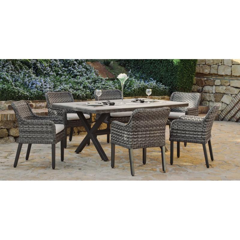 salon de jardin guadeloupa 6 places r sine tress e hevea mobilier de jardin. Black Bedroom Furniture Sets. Home Design Ideas