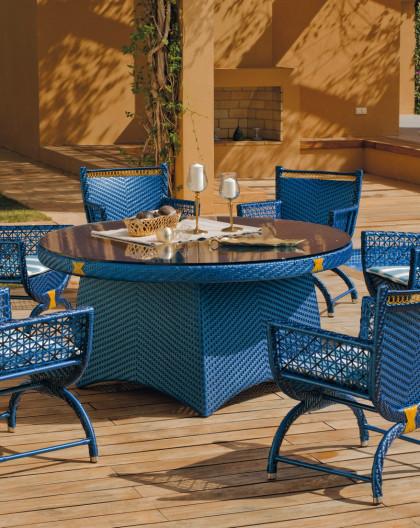 Salon de Jardin ROYAL 6 places | Résine tressée | HEVEA mobilier de jardin