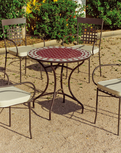 Salon de Jardin BRESIL-SARO 4 places | Table Mosaique | HEVEA mobilier de  jardin
