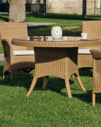 Salon de Jardin GOIANIA 4 places | Bois Rotin | HEVEA mobilier de jardin