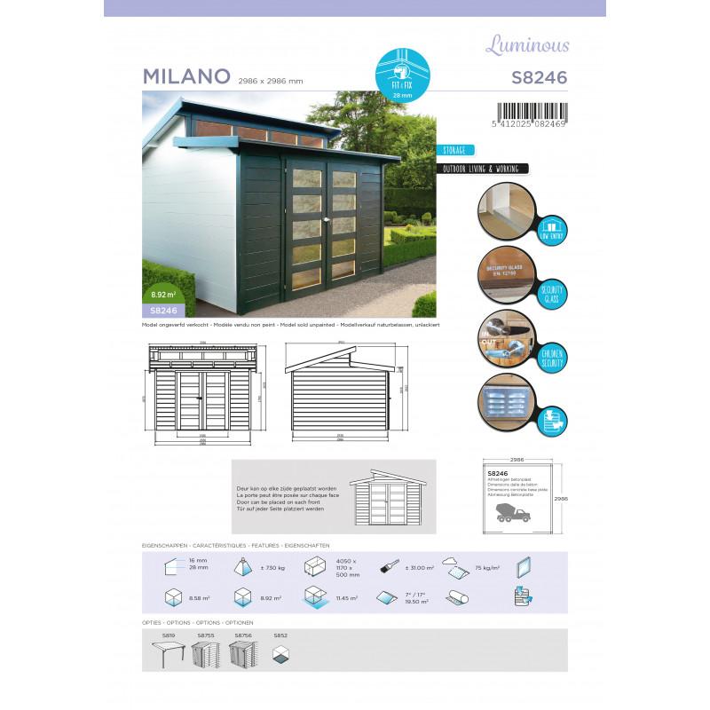 Abri de jardin MILANO 2986X2986 - Tout Pour La Maison
